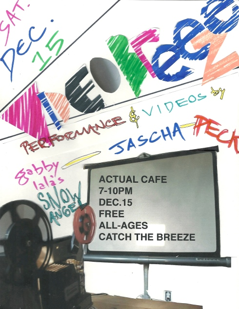 VIDEO BREEZE! 12/15 @ Actual Cafe